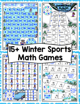 3rd Grade Winter Math - 3rd Grade Winter Games Math Activities Bundle