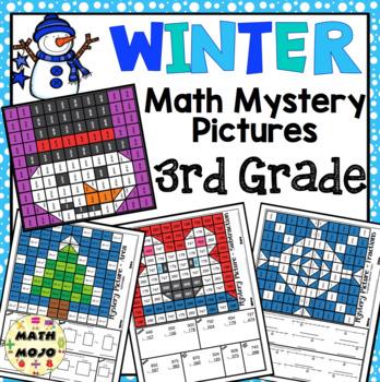 3rd Grade Winter Math: 3rd Grade Math Mystery Pictures