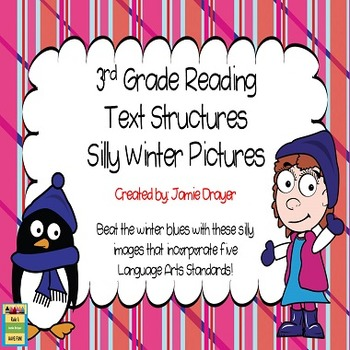 3rd Grade Silly Winter Images: Reading and Language Arts Skills