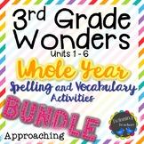 3rd Grade Wonders Approaching Lists BUNDLE