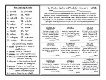 3rd Grade Wonders BUNDLE Units 1-6 Differentiated Vocabulary Spelling Homework