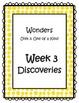 3rd Grade Wonders Binder Inserts Unit 3