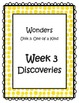 3rd Grade Wonders Binder Inserts Unit 3