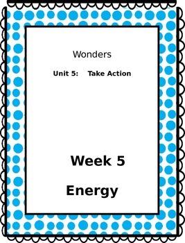3rd Grade Wonders Binder Inserts Unit 5