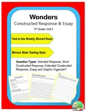 Wonders – Unit 5 (3rd) Constructed Response Practice