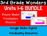 3rd Grade Wonders Digital Vocabulary