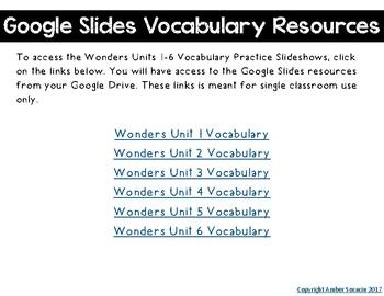 3rd Grade Wonders Digital Vocabulary
