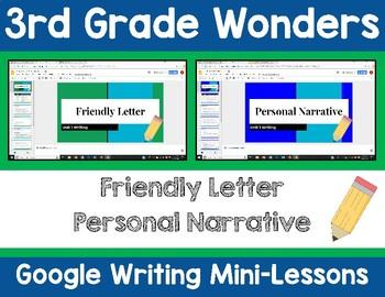 3rd Grade Wonders Google Writing Lessons
