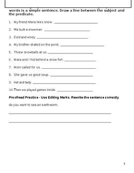 3rd Grade Wonders Grammar Unit 1 Week 5