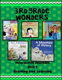 3rd Grade Wonders Interactive Notebook Unit 1 Growing and Learning