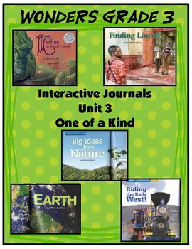 3rd Grade Wonders Interactive Notebook Unit 3 - One of a Kind