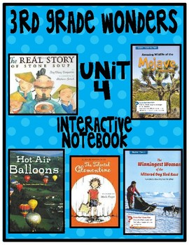3rd Grade Wonders Interactive Notebook Unit 4 Meet the Challenge