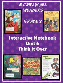 3rd Grade Wonders Interactive Notebook Unit 6 Think it Over