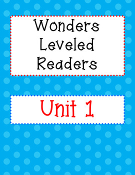 3rd Grade Wonders Leveled Readers Sheets