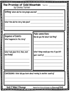 3rd Grade Wonders McGraw Hill Leveled Readers Reading Response Questions UNIT 2