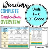 3rd Grade Wonders McGraw Hill Planning Guide Units 1 - 6
