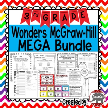 3rd Grade Wonders McGraw Hill Reading *** MEGA Bundle ***