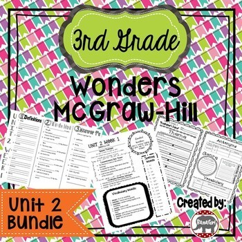 3rd Grade Wonders McGraw Hill Reading *** Unit 2 Bundle ***