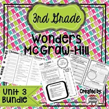 3rd Grade Wonders McGraw Hill Reading *** Unit 3 Bundle ***
