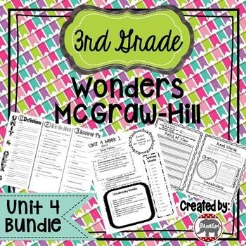 3rd Grade Wonders McGraw Hill Reading *** Unit 4 Bundle ***