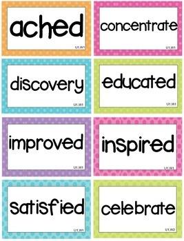 McGraw Hill Wonders Vocabulary Words Unit 1-6 BUNDLE (ENTIRE YEAR) 3rd grade