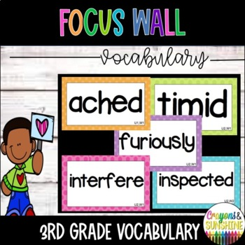 3rd Grade Wonders Vocabulary Words (Entire Year, FL edition)