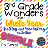 3rd Grade Wonders | Spelling and Vocabulary | On Level Lis