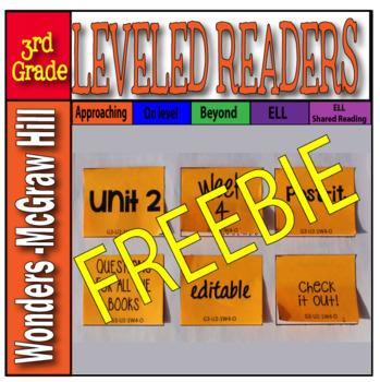 McGraw-Hill 3rd Grade Wonders Post-its Unit 2 week 4