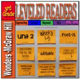 McGraw-Hill 3rd Grade Wonders Post-its Unit 2