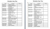 3rd Grade Wonders Schedule Template