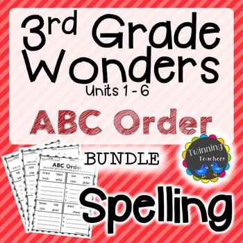3rd Grade Wonders Spelling - ABC Order BUNDLE