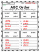 3rd Grade Wonders Spelling - ABC Order - Beyond Lists - UNITS 1-6
