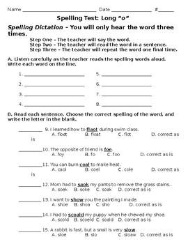 3rd Grade Wonders Spelling Test Unit 1 Week 5