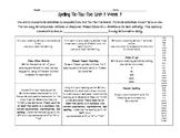 3rd Grade Wonders Spelling Tic-Tac-Toe