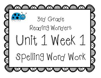 3rd Grade Wonders Spelling Unit 1 Week 1