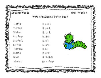 3rd Grade McGraw Hill Wonders Spelling Unit 1 Word Work Packet