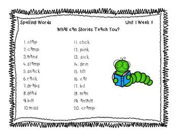 3rd Grade McGraw Hill Wonders Spelling Unit 1 Word Work Packet