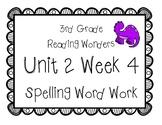 3rd Grade Wonders Spelling Unit 2 Week 4