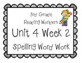 3rd Grade Wonders Spelling Unit 4 Week 2