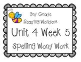 3rd Grade Wonders Spelling Unit 4 Week 5