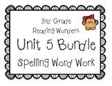 3rd Grade McGraw Hill Wonders Spelling Unit 5 Word Work Packet