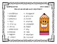 3rd Grade McGraw Hill Wonders Spelling Unit 6 Word Work Packet
