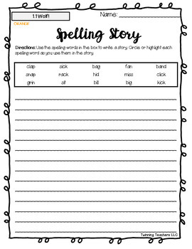 3rd Grade Wonders Spelling - Writing Activity - Approaching Lists - UNITS 1-6