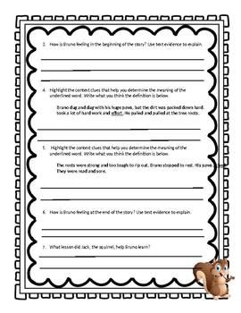 3rd Grade Wonders Unit 1-1 Comprehension