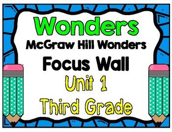 3rd Grade Wonders Unit 1 Focus Wall
