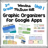 3rd Grade Wonders Unit 1 Graphic Organizers for Google Apps and Google Classroom