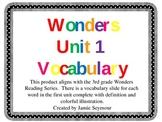 3rd Grade Wonders Unit 1 Vocabulary Slide Show