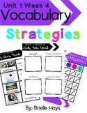 3rd Grade Wonders Unit 1 Week 4 Vocabulary Strategies