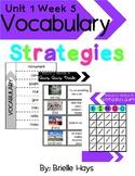 3rd Grade Wonders Unit 1 Week 5 Vocabulary Strategies