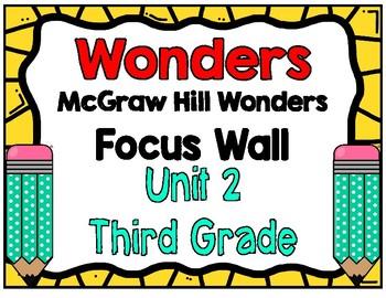 3rd Grade Wonders Unit 2 Focus Wall